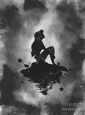 Mixed Media - Ariel Noir by Rebecca Jenkins