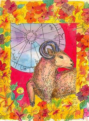 Print featuring the painting Aries by Cathie Richardson