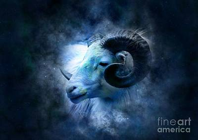 Islam Mixed Media - Aries by Frederick Holiday