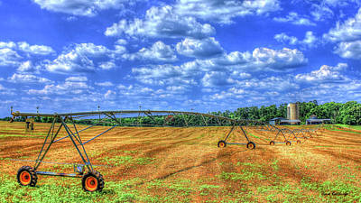 Photograph - Arificial Rain Jack Curtis Farm Art by Reid Callaway