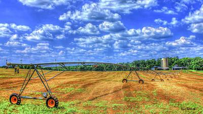 Photograph - Arificial Rain Jack Curtis Farm Art by Reid Callaway