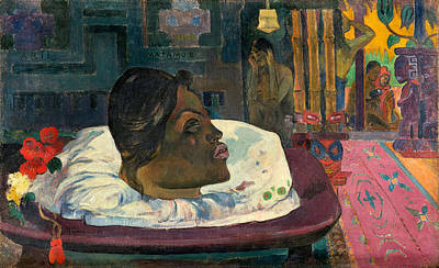 Suggestive Painting - Arii Matamoe, The Royal End by Paul Gauguin