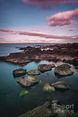 Photograph - Arild Rocky Beach Sunset by Sophie McAulay