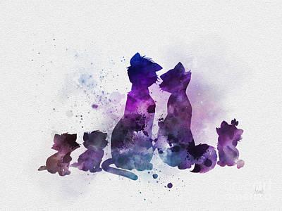 Mixed Media - Aristocats by Rebecca Jenkins