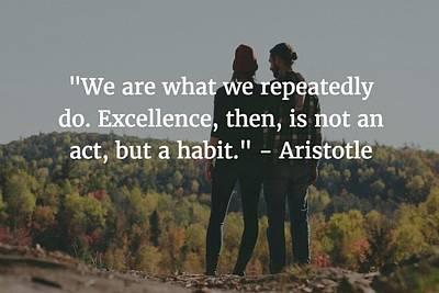 Photograph - Aristotle Quote by Matt Create