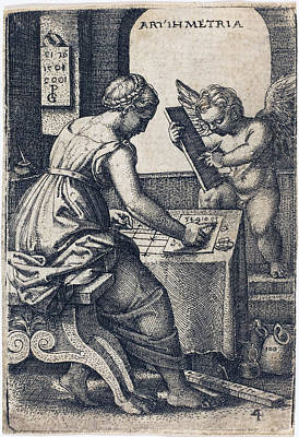 Drawing - Arithmetic by Georg Pencz