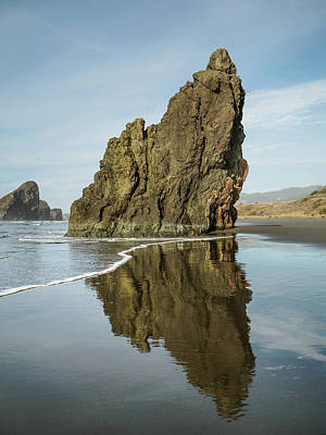 Photograph - Ariya's Beach Reflections On Sea Stack by Greg Nyquist