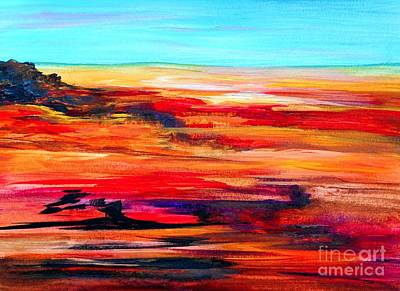Painting - Arizona Abstract Landscape by Eloise Schneider
