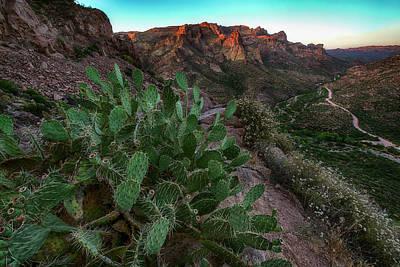 Photograph - Arizona Apache Trail Sunset Landscape by Dave Dilli