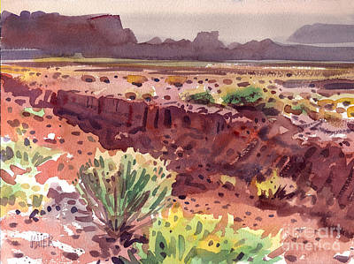 Andscape Painting - Arizona Arroyo by Donald Maier