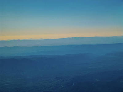 Photograph - Arizona Blue Hour From The Air by Randy Herring