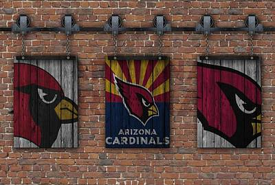 Arizona Cardinals Brick Wall Art Print by Joe Hamilton
