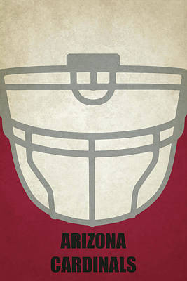 Football Painting - Arizona Cardinals Helmet Art by Joe Hamilton