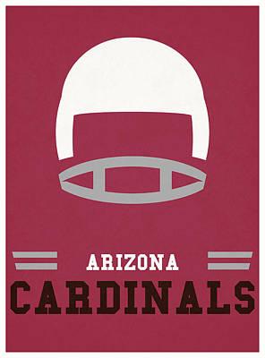 Cardinal Mixed Media - Arizona Cardinals Vintage Nfl Art by Joe Hamilton