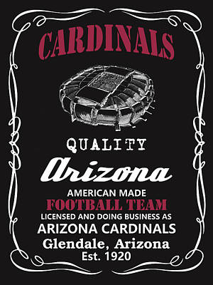 Painting - Arizona Cardinals Whiskey by Joe Hamilton