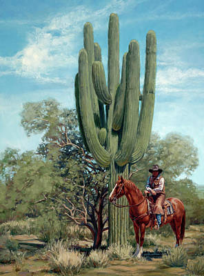 Painting - Arizona Cowboy by Sheila Cottrell