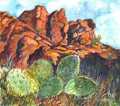 Arizona Desert Art Print by Carol Wisniewski