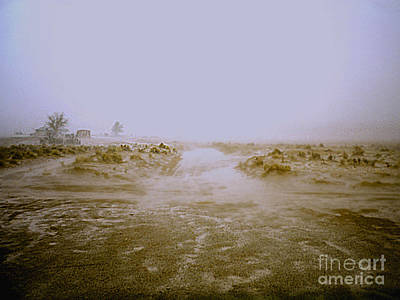 Photograph - Arizona Desert Rainstorm by Merton Allen
