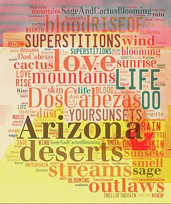 Digital Art - Arizona Deserts by Paulette B Wright