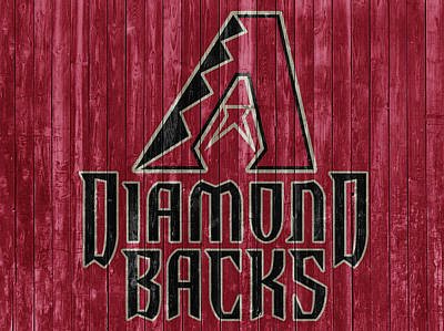 Baseball Players Mixed Media - Arizona Diamondbacks Barn Door by Dan Sproul