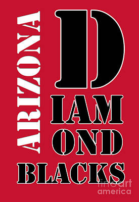 Diamondback Painting - Arizona Diamondbacks Baseball Typography Red by Pablo Franchi