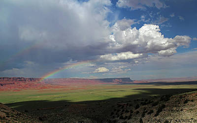 Photograph -  Arizona Double Rainbow by Jerry LoFaro