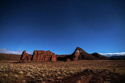 Arizona Landscape At Night Art Print