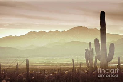 Photograph - Arizona Mountain Sunset Clouds Landscape by Andrea Hazel Ihlefeld