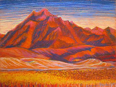 Painting - Arizona Mountains At Sunset by Art Nomad Sandra  Hansen