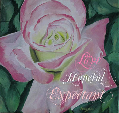 Flowers And Roses Mixed Media - Arizona Rose Love Hopeful by Haley Jula