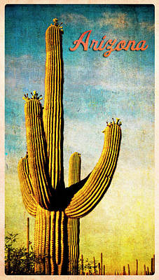 Digital Art - Arizona Saguaro by Sandra Selle Rodriguez