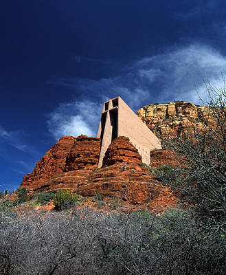 Arizona, Sedona  Chapel Of The Holy Cross Art Print by American School