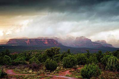 Black And White Horse Photography - Arizona Skies by Ron McGinnis