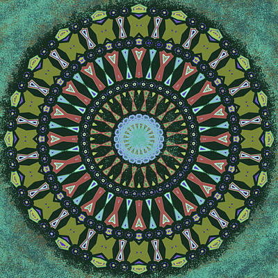 Digital Art - Arizona Splattered Mandala by Joy McKenzie