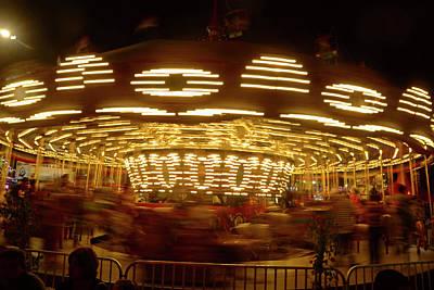Photograph - Arizona State Fair Carousel October 26, 2017 by Brian Lockett