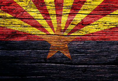 The Hills Mixed Media - Arizona State Flag 2w by Brian Reaves