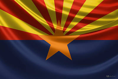 Digital Art - Arizona State Flag by Serge Averbukh