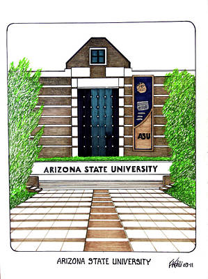 Drawing - Arizona State West Campus by Frederic Kohli