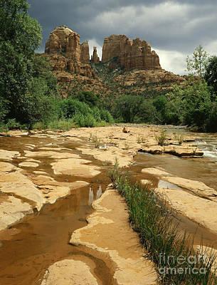 Cathedral Rock Photograph - Arizona Summer Storm by Willard Clay