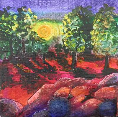 Painting - Arizona Sunrise by Jann Elwood