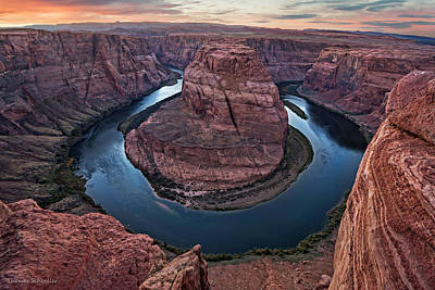 Photograph - Dusk Light At Horseshoe Bend by Expressive Landscapes Nature Photography
