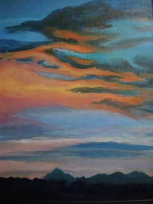 Painting - Arizona Sunset by Chrissey Dittus