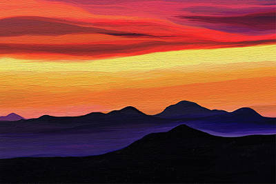 Graphics Painting - Arizona Sunset by Di Designs