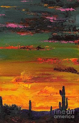 Desert Sunset Wall Art - Painting - Arizona Sunset by Frances Marino
