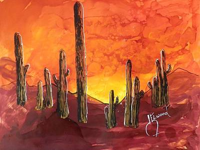 Painting - Arizona Sunset by Jann Elwood