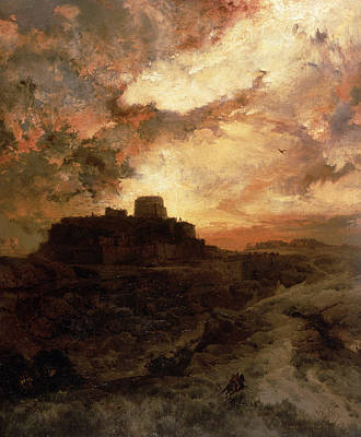 Pueblo Painting - Arizona Sunset by Thomas Moran