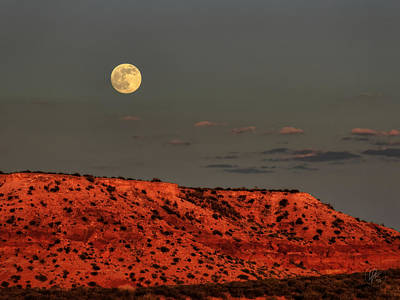 Desert Photograph - Arizona Supermoon 001 by Lance Vaughn
