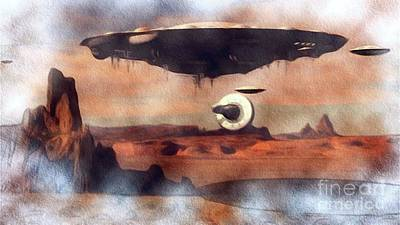 Science Fiction Royalty-Free and Rights-Managed Images - Arizona UFOs by Raphael Terra