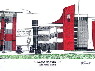 Drawing - Arizona University by Frederic Kohli