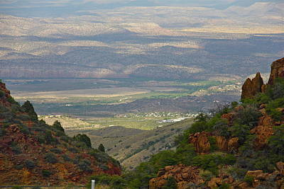 Photograph - Arizona Valley View by Denise Mazzocco